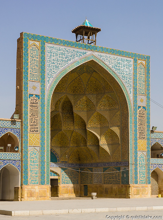 West-side iwan. Jameh Mosque aka The Congregational Mosque of Isfahan built from 771 to the end of the 20th century. Isfahan, Iran