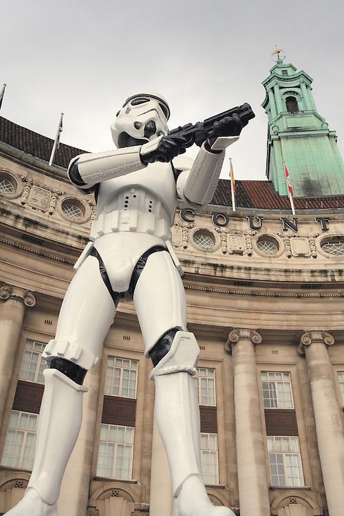 Star Wars Stormtrooper On Guard County Hall - London, UK