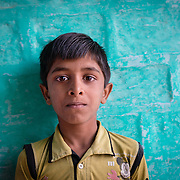 Portrait of boy in village of Chandelao, Rajistan