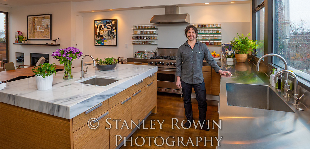 Chef Ken Oringer in his home kitchen in Boston, voted The James Beard Foundation's Best Chef
