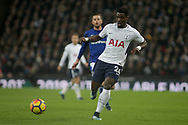 Serge Aurier of Tottenham Hotspur in action. <br /> Premier league match, Tottenham Hotspur v Everton at Wembley Stadium in London on Saturday 13th January 2018.<br /> pic by Kieran Clarke, Andrew Orchard sports photography.