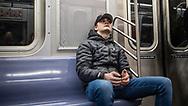 NEW YORK  2020V10<br /> Oscar på tunnelbanan i NY.<br /> <br /> Foto: Per Danielsson/Projekt.P