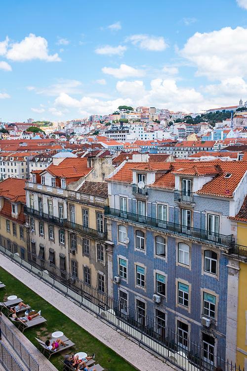 Rua Áurea, Lisbon, seen from the Carmo Convent.