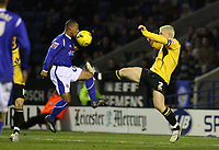 Photo: Pete Lorence.<br />Leicester City v Barnsley. Coca Cola Championship. 16/12/2006.<br />Levi Porter sends the ball over the Barnsley defence to send the score to 2-0.