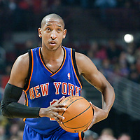 17 December 2009: New York Knicks guard Chris Duhon looks for a teammate during the Chicago Bulls 98-89 victory over the New York Knicks at the United Center, in Chicago, Illinois, USA.