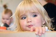 Nederland, Veghel, 20101117.?Kind op de creche. Meisje close up.Kinderopvang 't Kroontje in Veghel...Netherlands, Veghel, 20101117. ?Child at the nursery. Girl, close up..Childcare t Kroontje in Veghel..