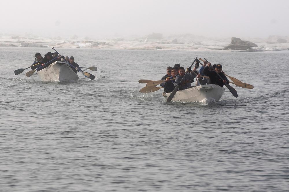 Barrow, Alaska,  Fourth of July games in Barrow. Umiaq races.