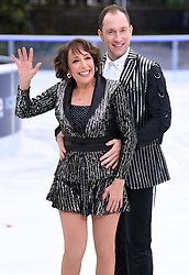 Didi Conn and Lucasz Rozycki attending the Dancing on Ice Photocall launch held at the Natural History Museum, London. Photo credit should read: Doug Peters/EMPICS