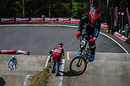 #245 (PEEL Maynard) NZL during round 4 of the 2017 UCI BMX  Supercross World Cup in Zolder, Belgium.