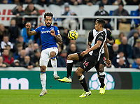 Football - 2019 / 2020 Premier League - Newcastle United vs. Everton<br /> <br /> Theo Walcott of Everton vies with Isaac Hayden of Newcastle United, at St James' Park Stadium.<br /> <br /> COLORSPORT/BRUCE WHITE