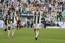 August 25, 2018 - Turin, Piedmont, Italy - Miralem Pjanic (Juventus FC) celebrates after scoring during the Serie A football match between Juventus FC and SS Lazio at Allianz Stadiumon august 25, 2018 in Turin, Italy. (Credit Image: © Massimiliano Ferraro/NurPhoto via ZUMA Press)
