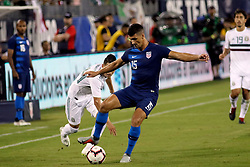 September 11, 2018 - Nashville, TN, U.S. - NASHVILLE, TN - SEPTEMBER 11: United States defender Eric Lichaj (15) during the game between the United States National team and the Mexico National team on September 11, 2018 at Nissan Stadium in Nashville, Tennessee. (Photo by Michael Wade/Icon Sportswire) (Credit Image: © Michael Wade/Icon SMI via ZUMA Press)