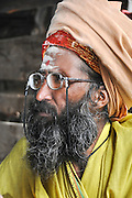 Holy man in Udaipur, Rajasthan, India