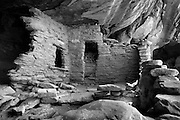 The Castle Ruins are tucked underneath the overhang of a cliff in southern Utah. Colin Braley/Photo