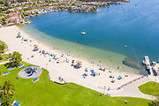 High Angle Aerial View of the Beach at Lake Mission Viejo