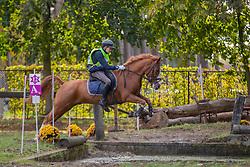 Van Elsen Jente, BEL, Quepassa van de Risten<br /> LRV Ponie cross - Zoersel 2018<br /> © Hippo Foto - Dirk Caremans<br /> 28/10/2018