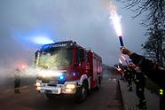 Uroczyste przywitanie wozu strażackego