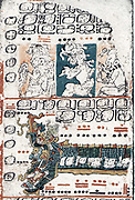 The Dresden Codex (Codex Dresdensis) Pre-Columbian Mayan book of the eleventh or twelfth century, of the Yucatecan Maya in Chichén Itzá.