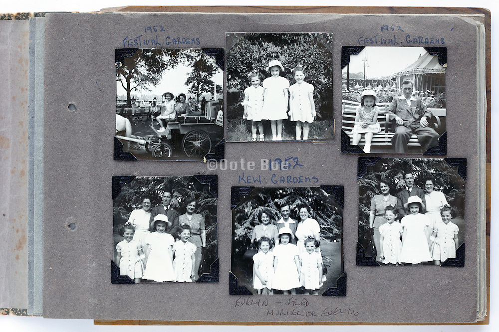 photo album with a  happy moment family and friends gathering 1950s