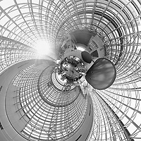 Little Planet View of the Kyoto Train Station. Composite of 91 images taken with a Leica CL camera and 18 mm f/2.8 lens (ISO 400, 18 mm, f/5.6, 1/60 sec). OOTC jpg images processed with AutoPano Giga Pro
