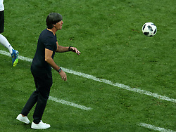 June 17, 2018 - Moscow, Russia - June 17, 2018, Russia, Moscow, FIFA World Cup, First round, Group F, Germany vs Mexico at the Luzhniki stadium. Joachim Loew. Head coach of the national team of Germany Joachim Loew. (Credit Image: © Russian Look via ZUMA Wire)
