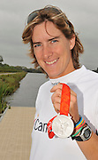 Caversham, Great Britain,   GBR W4X stroke Katherine GRAINGER, Silver medallist at the 2008 Beijing Olympic, GB Rowing Medalist, Redgrave Pinsent Rowing Lake, Thursday 28.08.2008[Mandatory Credit. Peter Spurrier/Intersport Images]