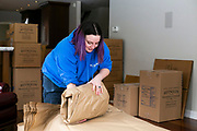 Reynolds Transfer & Storage employees are seen packing up a home during a move in Madison, Wisconsin on January 22, 2020.<br /> <br /> Beth Skogen Photography<br /> www.bethskogen.com