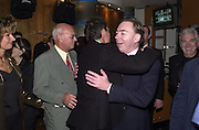 Sir Cliff Richard and Andrew Lloyd Webber. The Beautiful Game first night party. Hippodrome. London. 26 September 2000 © Copyright Photograph by Dafydd Jones 66 Stockwell Park Rd. London SW9 0DA Tel 020 7733 0108 www.dafjones.com