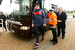 Max O'Leary of Bristol City arrives at Pride Park Stadium for the Sky Bet Championship game against Derby County - Mandatory by-line: Robbie Stephenson/JMP - 22/12/2018 - FOOTBALL - Pride Park Stadium - Derby, England - Derby County v Bristol City - Sky Bet Championship