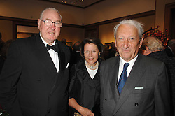 Left to right, HENRY & TESSA KESWICK and LORD LEACH at a reception to launch the Knight of Glin's book 'Irish Furniture' and Harry Erne's book 'Freddy Lond Ears' held at Christie's, 8 King Street, London SW1 on 3rd May 2007.<br /><br />NON EXCLUSIVE - WORLD RIGHTS