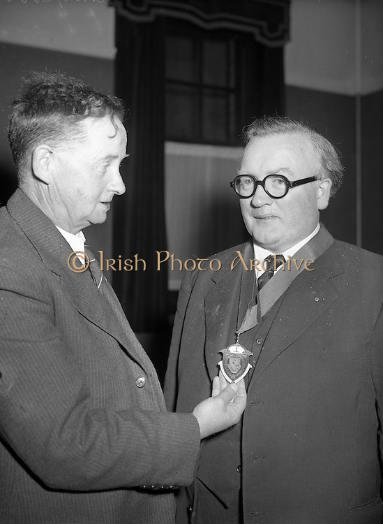 27/03/1957 <br /> 03/27/1957<br /> 27 March 1957<br /> Irish Auctioneers and Estate Agents Annual General Meeting At the Clarence Hotel, Dublin. New President inaugurated.