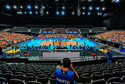10-08-2019 NED: FIVB Tokyo Volleyball Qualification 2019 / Belgium - Netherlands, Rotterdam<br /> Third match pool B in hall Ahoy between Belgium vs. Netherlands (0-3) for one Olympic ticket / Photographer, centercourt Ahoy