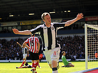 West Bromwich Albion/Sunderland Premiership 25.04.09 <br /> Photo: Tim Parker Fotosports International<br /> Chris Brunt WBA celebrates 2nd goal