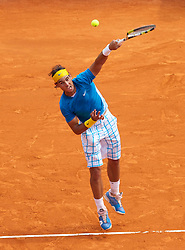 MONTE-CARLO, MONACO - Friday, April 16, 2010: Rafael Nadal (ESP) in action during the Men's Single's Quarter-Final on day five of the ATP Masters Series Monte-Carlo at the Monte-Carlo Country Club. (Photo by David Rawcliffe/Propaganda)