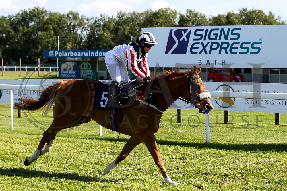 Windsorlot ridden by Mollie Phillips trained by Tony Carroll - Mandatory by-line: Robbie Stephenson/JMP - 22/07/2020 - HORSE RACING - Bath Racecoure - Bath, England - Bath Races