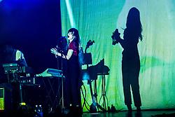 July 3, 2018 - Milan, Milan, Italy - Zoe Manville of the Portugal. The Man performing live at Fabrique Milan Italy  (Credit Image: © Roberto Finizio/NurPhoto via ZUMA Press)