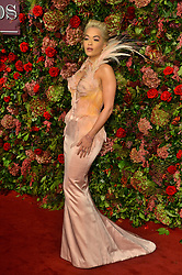 © Licensed to London News Pictures. 18/11/2018. London, UK. Rita Ora attends the 64th Evening Standard Theatre Awards held at the Theatre Royal, Dury Lane. Photo credit: Ray Tang/LNP