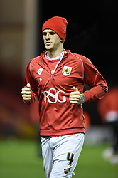 Bristol City's Aden Flint warms up before facing Doncaster Rovers in FA Cup third round replay at Ashton Gate - Photo mandatory by-line: Paul Knight/JMP - Mobile: 07966 386802 - 13/01/2015 - SPORT - Football - Bristol - Ashton Gate Stadium - Bristol City v Doncaster Rovers - FA Cup third round replay