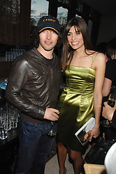 Singer JAMES BLUNT and LISA B at a party to celebrate the publication of Lisa B's book 'Lifestyle Essentials' held at the Cook Book Cafe, Intercontinental Hotel, Park Lane London on 10th April 2008.<br />