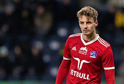 Magnus Westergaard (Lyngby BK) under kampen i 3F Superligaen mellem Brøndby IF og Lyngby Boldklub den 1. marts 2020 på Brøndby Stadion (Foto: Claus Birch).