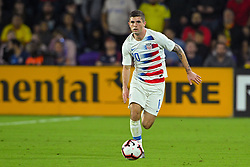 March 21, 2019 - Orlando, Florida, USA - US midfielder Christian Pulisic (10) brings the ball upfield during an international friendly between the US and Ecuador at Orlando City Stadium on March 21, 2019 in Orlando, Florida. .The US won the game 1-0...©2019 Scott A. Miller. (Credit Image: © Scott A. Miller/ZUMA Wire)