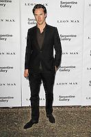 LONDON - JUNE 26: Benedict Cumberbatch attended the Serpentine Gallery summer party, Kensington Gardens, London, UK. June 26, 2012. (Photo by Richard Goldschmidt)