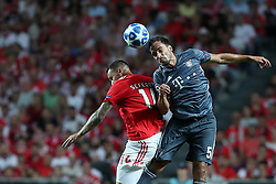 September 19, 2018 - Lisbon, Portugal - Bayern Munich's defender Mats Hummels from Germany (R ) heads the ball with Benfica's Suisse forward Haris Seferovic during the UEFA Champions League Group E football match SL Benfica vs Bayern Munich at the Luz stadium in Lisbon, Portugal on September 19, 2018. (Credit Image: © Pedro Fiuza/NurPhoto/ZUMA Press)