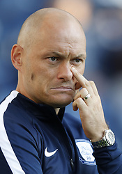 """Preston North End manager Alex Neil during the pre-season friendly match at Deepdale, Preston. PRESS ASSOCIATION Photo. Picture date: Tuesday July 25, 2017. See PA story SOCCER Preston. Photo credit should read: Martin Rickett/PA Wire. RESTRICTIONS: EDITORIAL USE ONLY No use with unauthorised audio, video, data, fixture lists, club/league logos or """"live"""" services. Online in-match use limited to 75 images, no video emulation. No use in betting, games or single club/league/player publications."""