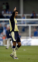 Photo: Jed Wee.<br />Hartlepool United v Swindon Town. Coca Cola League 2.<br />05/08/2006.<br /><br />Swindon hero, goalkeeper Petr Brezovan saved two penalties in the game and acknowledges the fans.