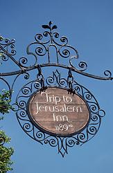 Wrought iron pub sign,