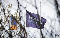 HARLINGEN  - Ook  de hockeyvelden van de Harlinger Mixed Hockey Club  hockeyclub  zijn verboden terrein  ivm Coronavirus. COPYRIGHT KOEN SUYK