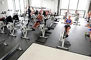 Caversham, Nr Reading, Berkshire. Women's Training session, Ergo Room, GBRowing Media Day.<br /> Wednesday  11.05.2016, [Mandatory Credit: Peter SPURRIER/Intersport Images]