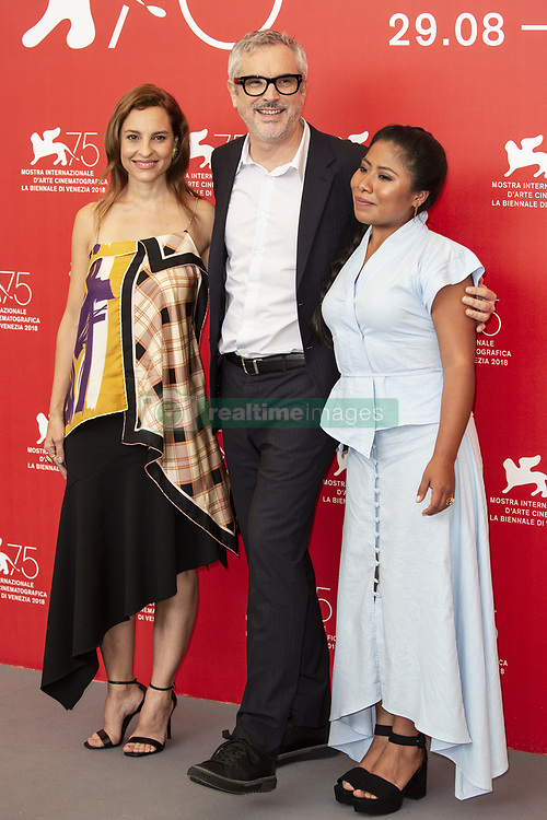 Marina de Tavira, Alfonso Cuarón, Yalitza Aparicio attend Roma photocall during the 75th Venice Film Festival at Sala Casino on August 30, 2018 in Venice, Italy. Photo by Marco Piovanotto/ABACAPRESS.COM