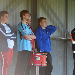 TELFORD COPYRIGHT MIKE SHERIDAN  Telford fans during the National League North fixture between Blyth Spartans and AFC Telford United at Croft Park on Saturday, September 28, 2019<br /> <br /> Picture credit: Mike Sheridan<br /> <br /> MS201920-023